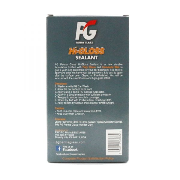 pg perma glass hi-gloss sealant back packaging
